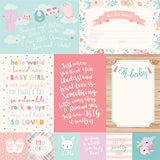 Echo Park Cut-Outs - Hello Baby Girl - 4x6 Journaling Cards