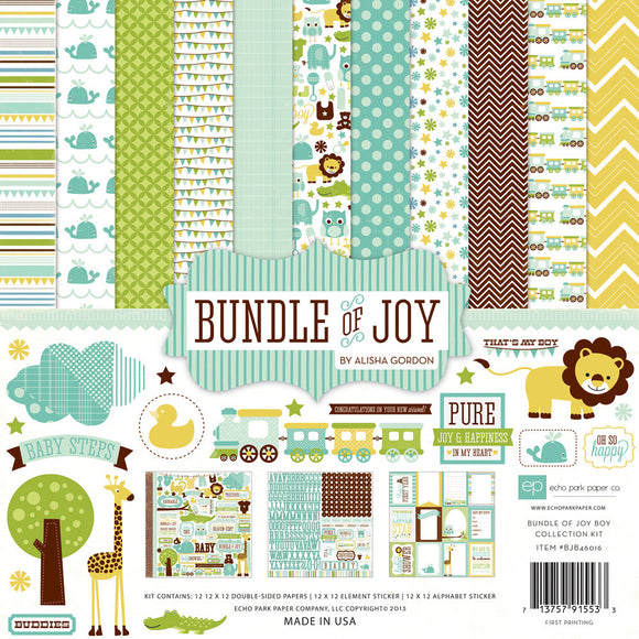 Echo Park Collection Kit - Bundle of Joy - Boy