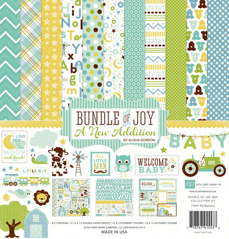 Echo Park Collection Kit - New Addition - Bundle of Joy - Boy