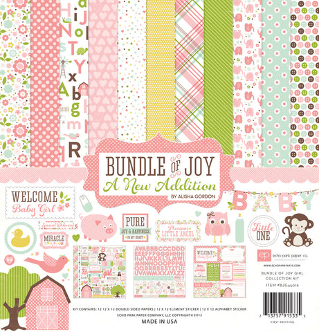 Echo Park Collection Kit - New Addition - Bundle of Joy - Girl