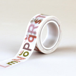 Echo Park Washi Tape - Bundle of Joy Girl - Alphabet