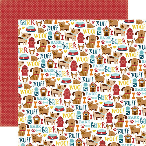 Echo Park Papers - Bark - Puppy Icons - 2 Sheets