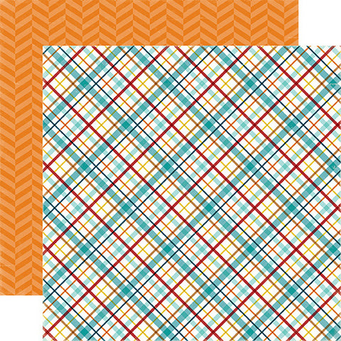 Echo Park Papers - Bark - Puppy Plaid - 2 Sheets