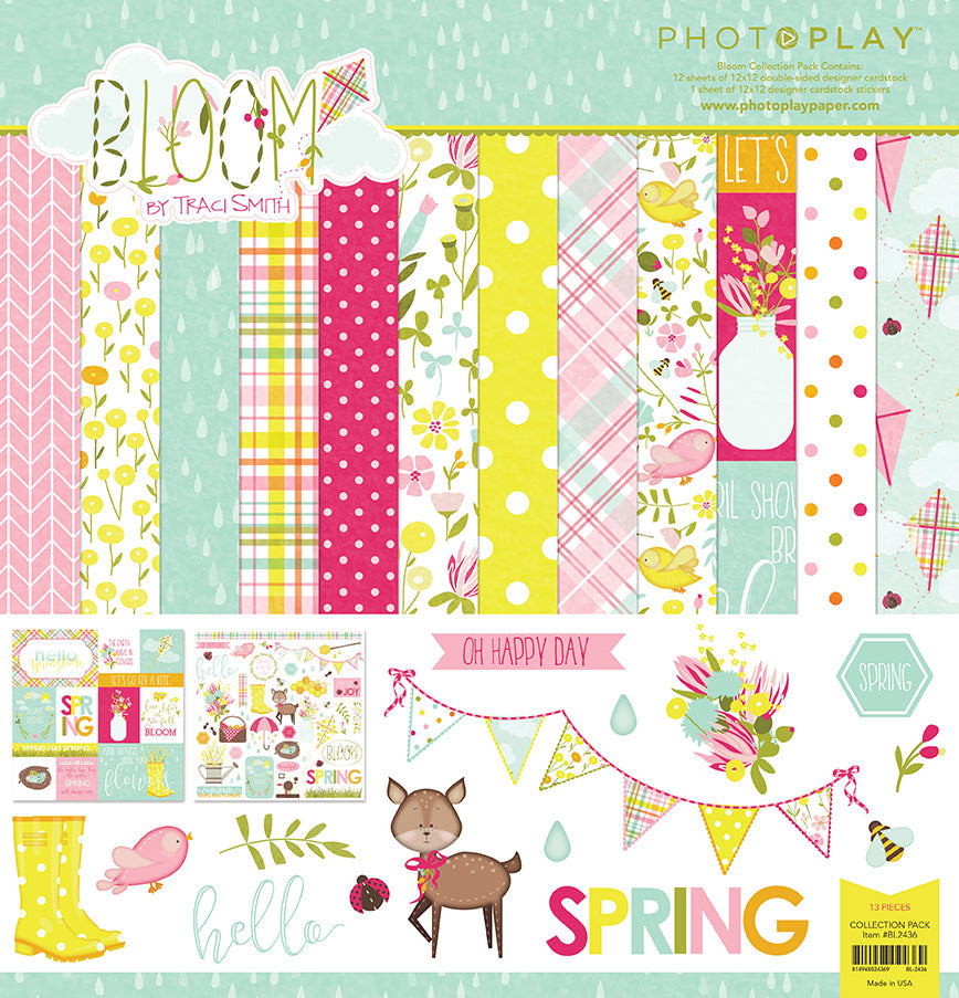 Photo Play Paper Collection Kit - Bloom