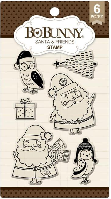 Bo Bunny Stamps - Santa & Friends