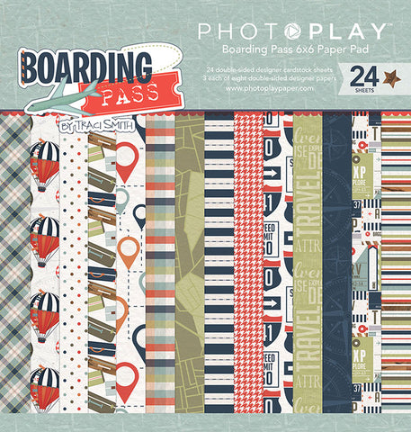 Photo Play Paper 6x6 Paper Pad - Boarding Pass