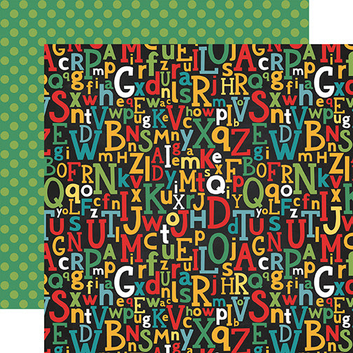 Echo Park Papers - Back to School - Alphabet Scramble - 2 Sheets