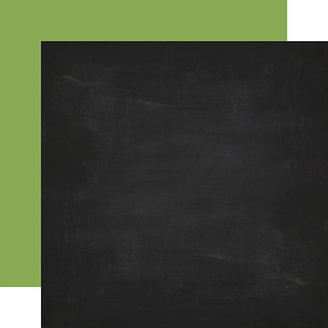 Echo Park Papers - Back to School - Chalkboard/Green - 2 Sheets