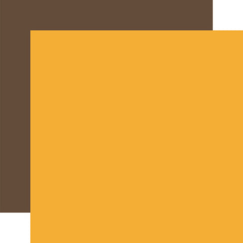 Echo Park Papers - Back to School - Yellow/Brown - 2 Sheets