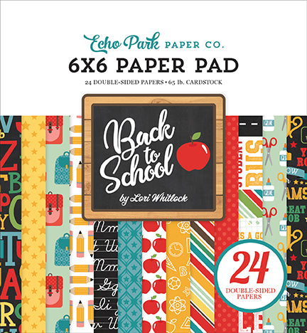 Echo Park 6x6 Pad - Back to School