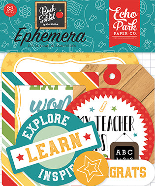Echo Park Ephemera Die-Cuts - Back to School