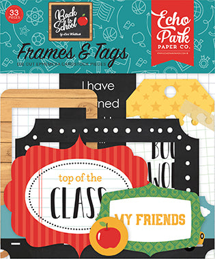 Echo Park Frames & Tags Die-Cuts - Back to School