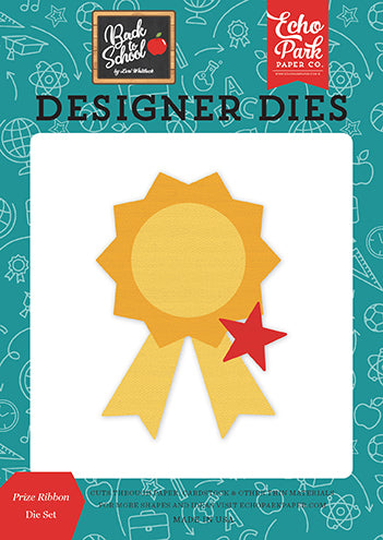 Echo Park Designer Dies - Back to School - Prize Ribbon - Die Set