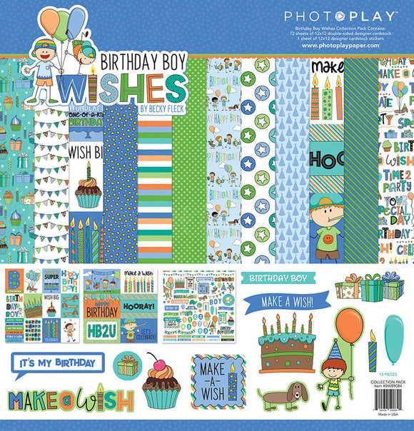 Photo Play Paper Collection Kit - Birthday Boy Wishes
