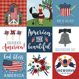 Echo Park Cut-Outs - Celebrate America - 4x4 Journaling Cards
