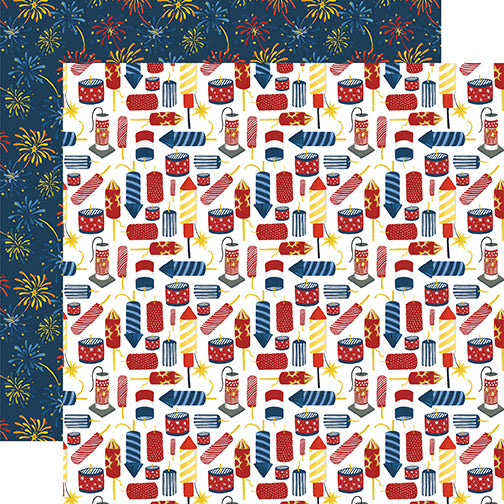 Echo Park Papers - Celebrate America - Firecrackers - 2 Sheets