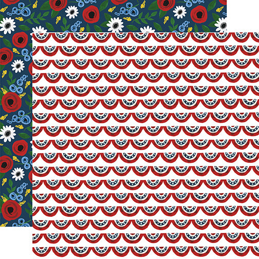 Echo Park Papers - Celebrate America - Patriotic Banners - 2 Sheets