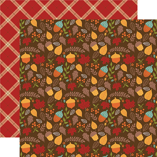 Echo Park Papers - Celebrate Autumn - Autumn Acorns - 2 Sheets