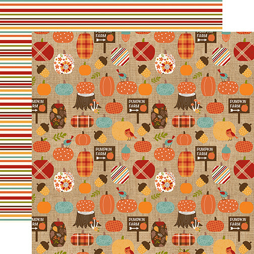Echo Park Papers - Celebrate Autumn - Pumpkin Farm - 2 Sheets