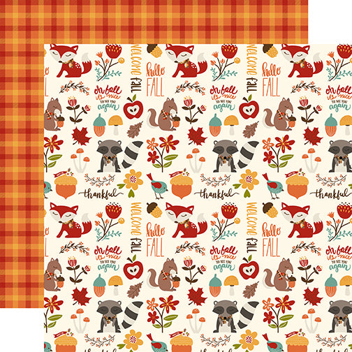 Echo Park Papers - Celebrate Autumn - Autumn Friends - 2 Sheets