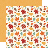 Echo Park Papers - Celebrate Autumn - Falling Leaves - 2 Sheets