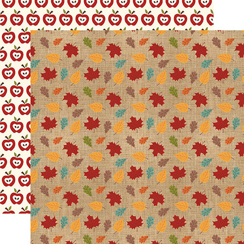 Echo Park Papers - Celebrate Autumn - Colored Leaves - 2 Sheets