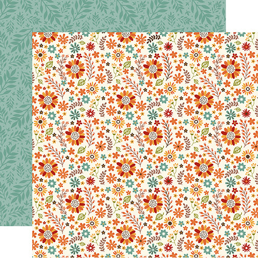 Echo Park Papers - Celebrate Autumn - Autumn Floral - 2 Sheets