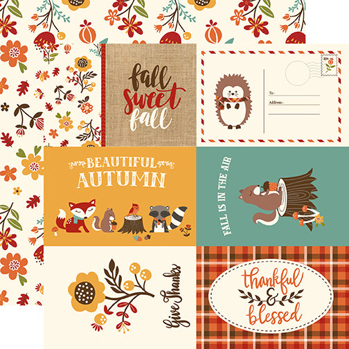 Echo Park Cut-Outs - Celebrate Autumn - 4x6 Journaling Cards
