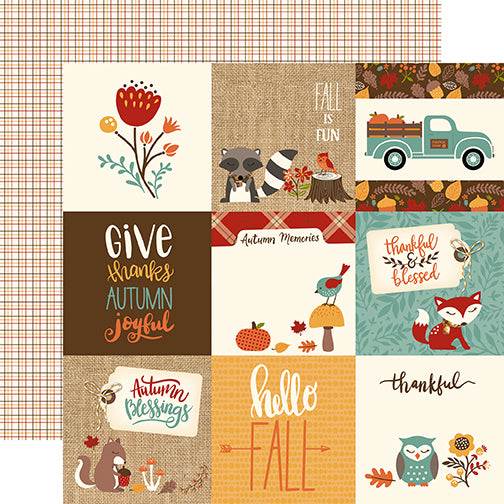 Echo Park Cut-Outs - Celebrate Autumn - 4x4 Journaling Cards