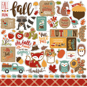 Echo Park 12x12 Cardstock Stickers - Celebrate Autumn - Elements