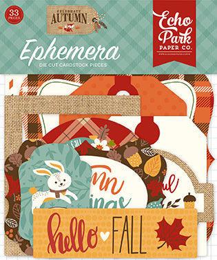 Echo Park Ephemera Die-Cuts - Celebrate Autumn