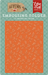Echo Park Embossing Folder - Celebrate Autumn - Autumn Florals
