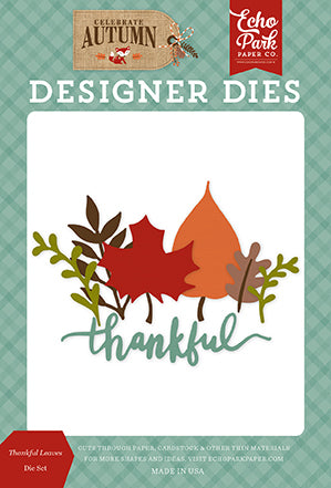 Echo Park Designer Dies - Celebrate Autumn - Thankful Leaves Die Set