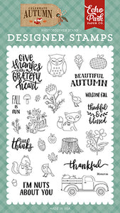 Echo Park Clear Stamp Set - Celebrate Autumn - Nuts About You