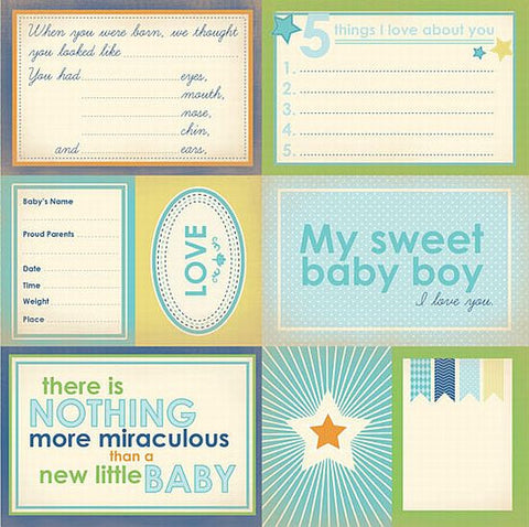 Carta Bella Cut-Outs - Baby Mine - Sweet Baby