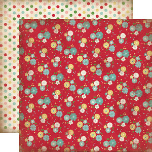 Carta Bella Papers - Homemade With Love - Kitchen Floral - 2 Sheets
