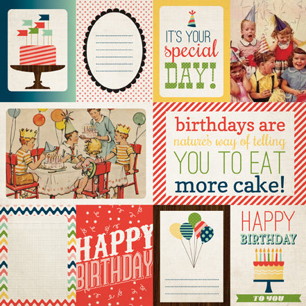 Carta Bella Cut-Outs - It's a Celebration - Journaling Cards