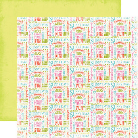 Carta Bella Papers - Summer Lovin' - Summer Words - 2 Sheets