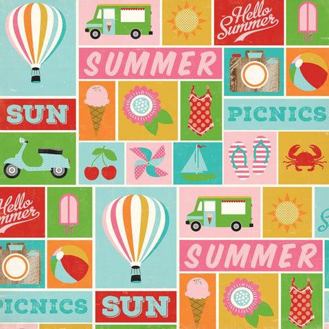 Carta Bella Cut-Outs - Soak Up the Sun - Summer Icons
