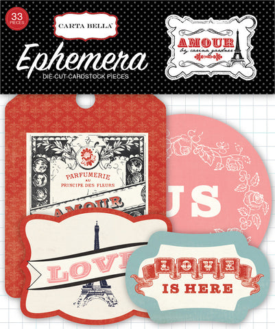 Carta Bella Ephemera Die-Cuts - Amour