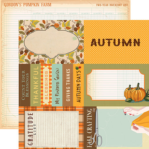 Carta Bella Cut-Outs - Autumn - 4x6 Journaling Cards