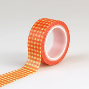 Carta Bella Washi Tape - Autumn - Orange Gingham