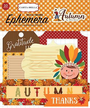 Carta Bella Ephemera Die-Cuts - Autumn - Tags & Frames