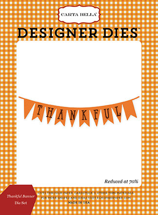 Carta Bella Designer Dies - Autumn - Thankful Banner Set