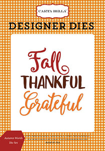 Carta Bella Designer Dies - Autumn - Autumn Words Set