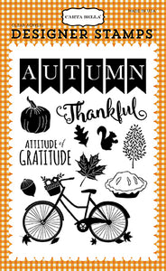 Carta Bella Clear Stamp Set - Autumn - Thankful Autumn
