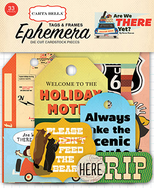 Carta Bella Ephemera Die-Cuts - Are We There Yet - Tags & Frames