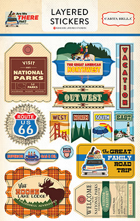 Carta Bella Layered Stickers - Are We There Yet