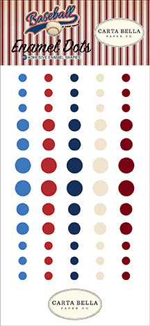 Carta Bella Enamel Dots - Baseball