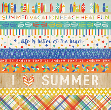 Carta Bella Cut-Outs - Beach Day - Border Strips